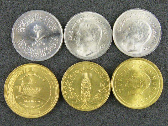 SAUDI ARABIA LOT 6, 5000 LIRA, OTHERS COIN T653
