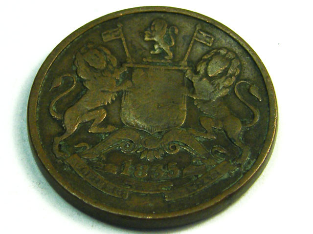 BRITISH EMPIRE INDIA LOT 1, HALF ANNA 1835 COIN T663