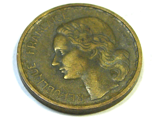 FRANCE LOT 1, 1951 TEN FRANC COIN T688