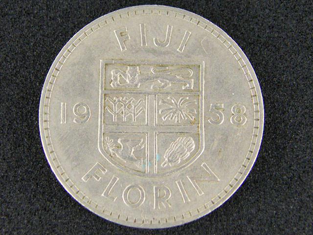 FIJI LOT 1, 1958 FIJI FLORIN COIN T698