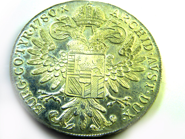 AUSTRIA LOT 1, 1780 RESTRIKE SILVER BULLION COIN T709
