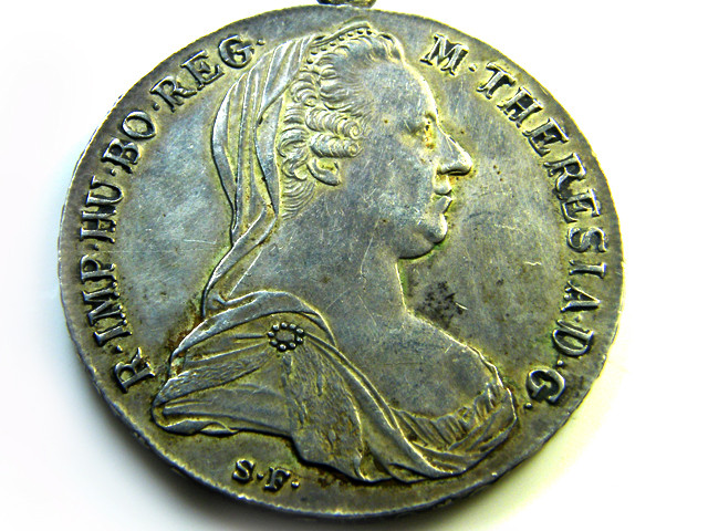 AUSTRIA LOT 1, 1780 SILVER BULLION PENDANT COIN T710