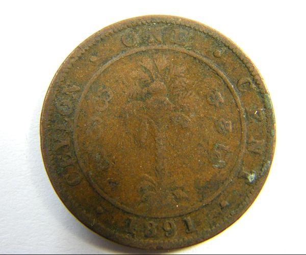 CEYLON /SIR LANKA  1891   COIN  OP318
