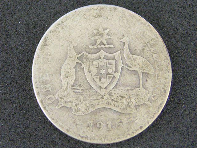 AUSTRALIA LOT 1, 1916 ONE FLORIN COIN   925 SILVER T746