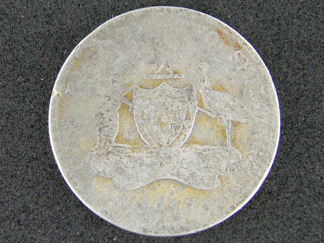 AUSTRALIA LOT 1, 1917 FLORIN COIN   925 SILVER  T752