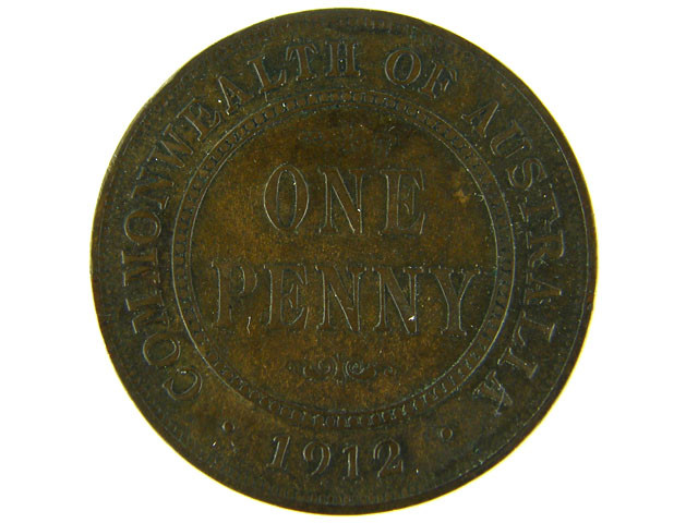 AUSTRALIA LOT 1, ONE PENNY 1912 COIN T762