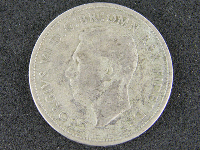 AUSTRALIA LOT 1, UNC FLORIN 1954 COIN 50% silver T768