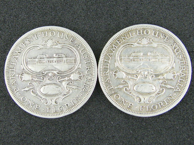 LOT 2, 1927 PARLIMENT HOUSE FLORIN COINS 925 SILVER T793