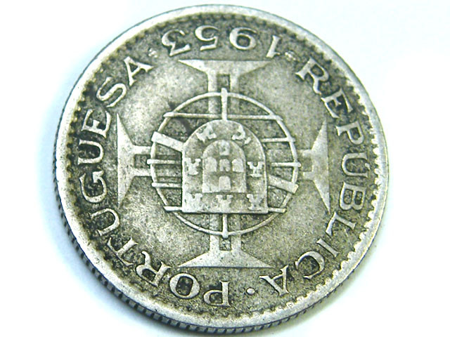 ANGOLA LOT 1, 1953 TWO DOLLARS FIFTY COIN T795