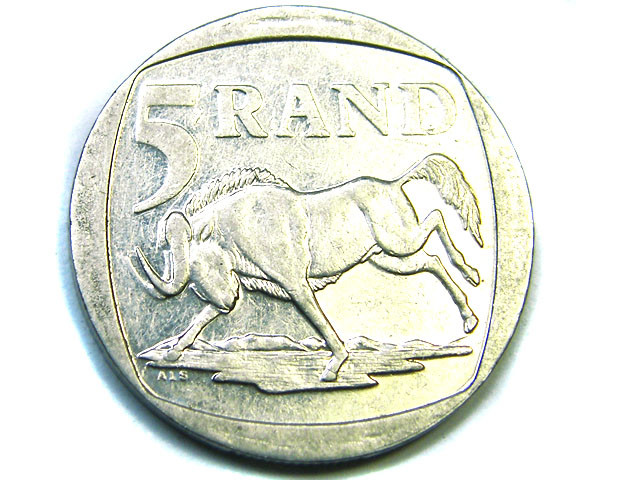 SOUTH AFRICA  5 RAND SILVER 2000,  COIN T 821