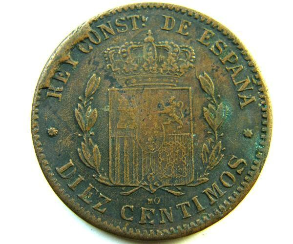 SPAIN   COIN  10 CENTS 1879   OP 339