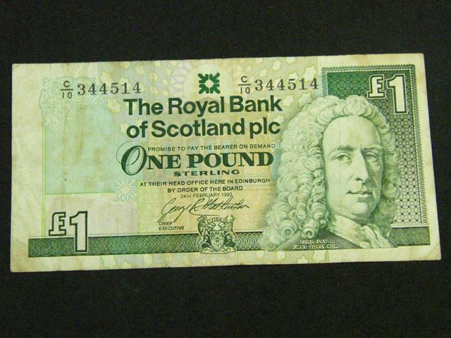 SCOTLAND ONE POUND 1993     T 885