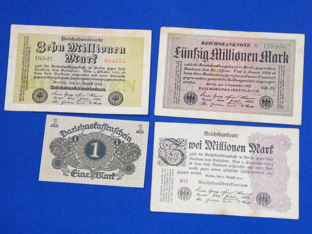 FOUR GERMAN NOTES 1920,1923,      T 884
