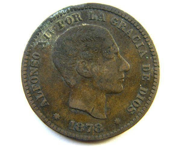 SPAIN COIN 10C  1878     OP 346