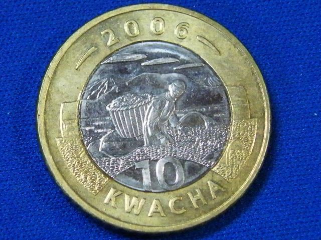 MALAWI L1, BI-METAL 2006 TEN KWACHA COIN T901
