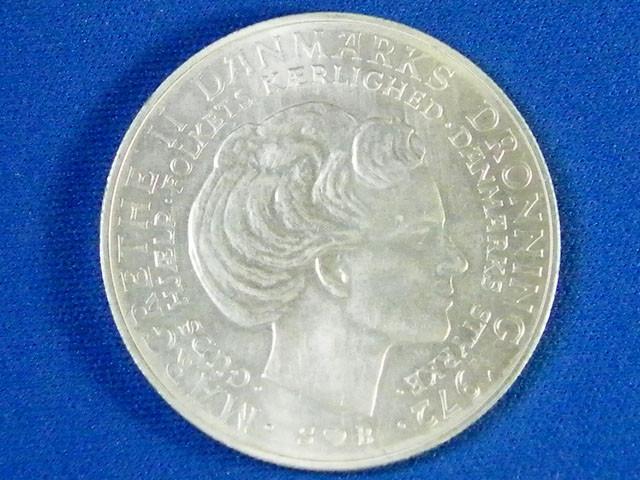 DENMARK L1, 1947 TEN KRONER COIN T939