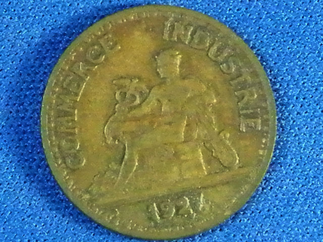 FRANCE L1, 1927 FIFTY CENTIMES COIN T954
