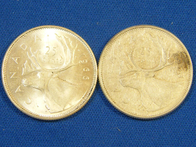 CANADA L1, TWENTY-FIVE CENT 1963-1966 COIN T983