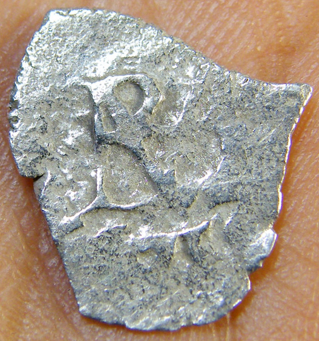 SILVER SPANISH REALE COIN 1715  T1007