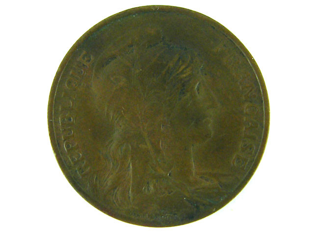 FRANCE COIN L1, 1914 TEN CENT COIN T1030