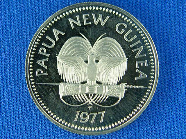 PAPUA NEW GUINEA COIN L1, UNC 1977 20T COIN T1066