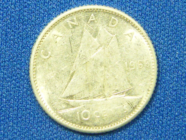 CANADA COIN L1, 1964 TEN CENT COIN T1081