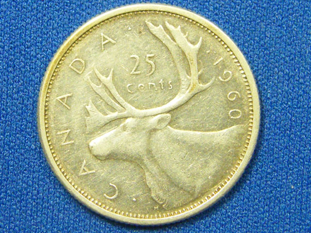 CANADA COIN L1, 1960 TWENTY FIVE CENT COIN T1089
