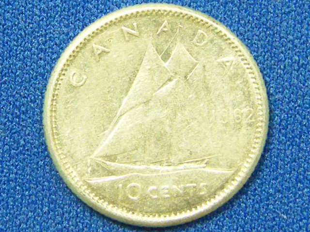 CANADA COIN L1, TEN CENT 1962 COIN T1098