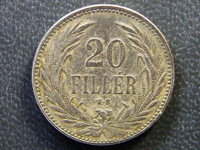 HINGARY COIN L1, 1893 TWENTY FILLER COIN T1143
