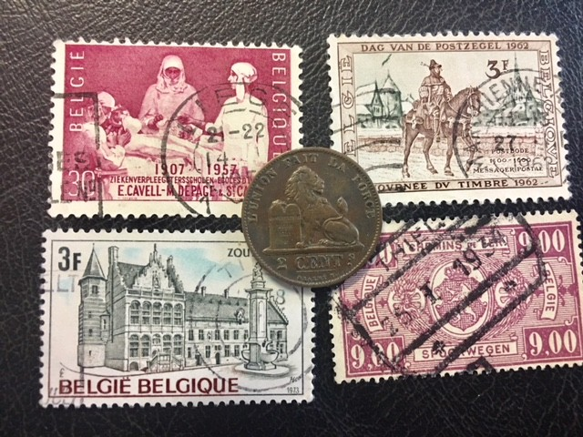 BELGIUM COIN L1, 1876 TWO CENTIME COIN T1157