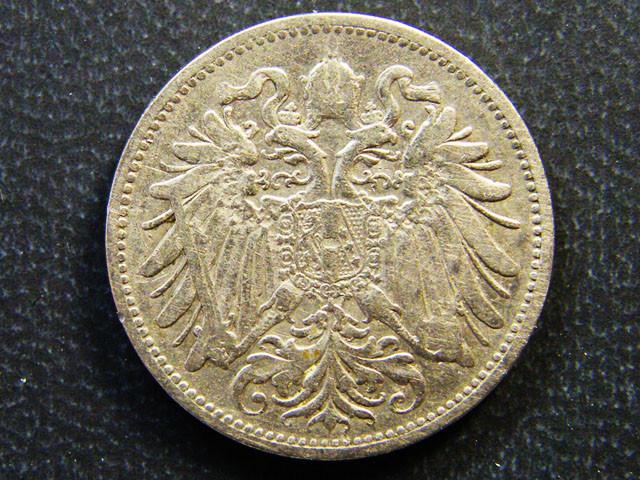 AUSTRIA COIN L1, 1895 TWENTY HELLER COIN T1167