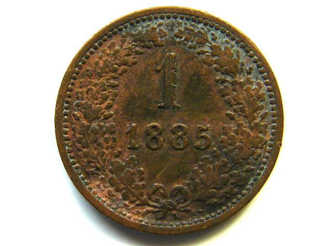 AUSTRIA COIN L1, 1885 ONE KREUZER COIN T1168