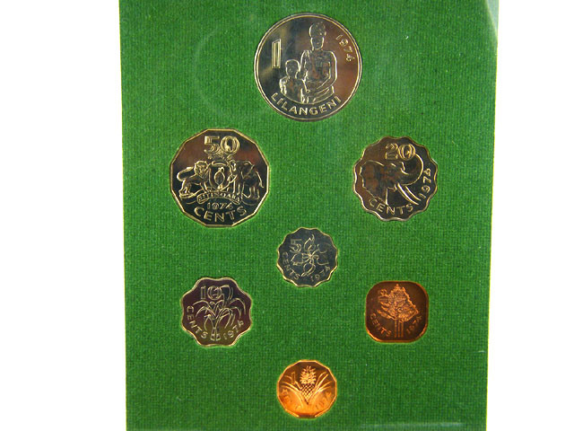 SWAZILAND COIN L7, 1974 SWAZILAND UNC  COINS T1174
