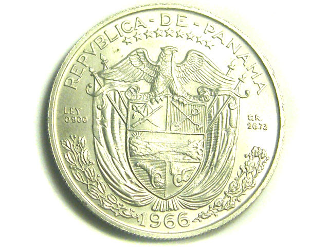 PANAMA COIN L1, 1966 REPUBLICA DE PANAMA COIN T1203