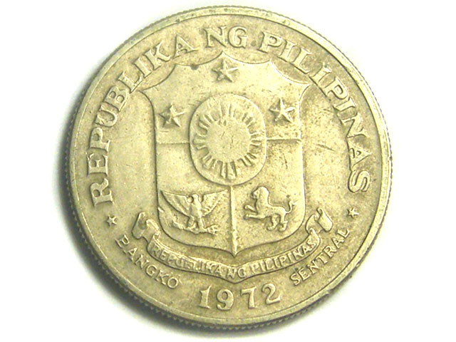 PILIPINAS COIN L1, ONE PISO 1972 COIN T1220