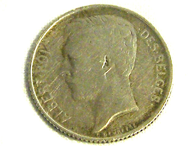 BELGIUM COIN L1, 1910 FIFTY CENT COIN T1259
