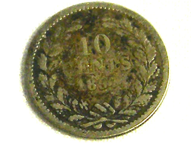 NETHERLANDS COIN L1, 1897 10 CENT COIN T1260