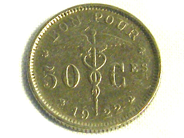 BELGIUM COIN L1, 1922 TEN CENT COIN T1268