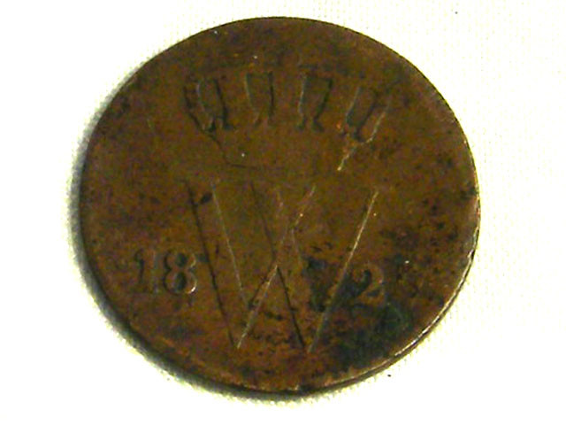 NETHERLANDS COIN L1, 1827 ONE CENT COIN T1272