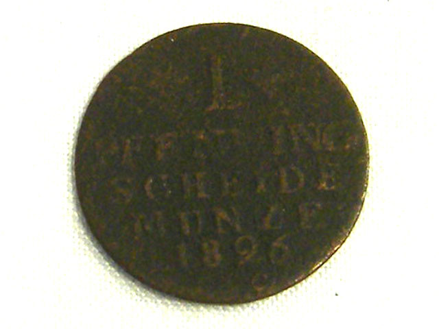 GERMANY COIN L1, 1826 1 PFENNING COIN T1274