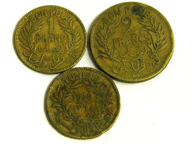 TUNISIA COIN L3, 1921-1945 TUNISIAN COINS T1279