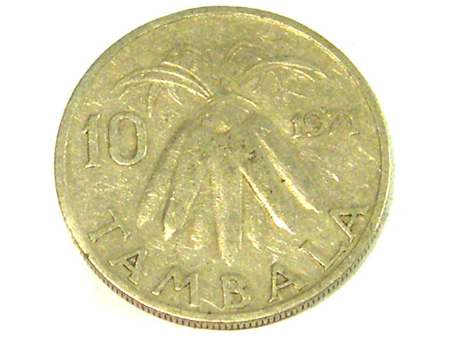 SOUTH AFRICA COIN L1, 1971 TEN CENT COIN T1291