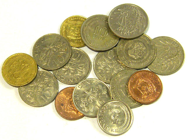 SINGAPORE COIN L15, 1967-1995 10, 5, 1 CENT COINS T1313