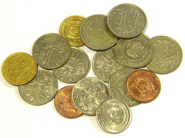 SINGAPORE COIN L15, 1967-1995 10, 5, 1 CENT COINS T1313