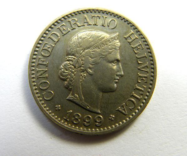 SWITERZLAND  COIN 10 RAPPEN   1899   OP396
