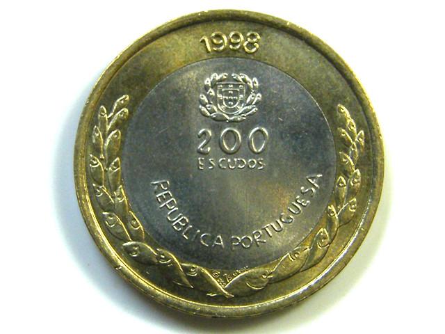 BI METAL  EXPO 98 COIN PORTUGAL  1998   J 860