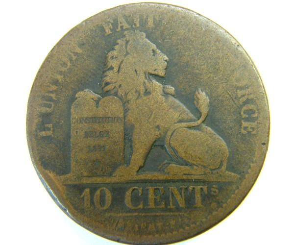 BELGIUM 10 CENTS  1832  OP 404