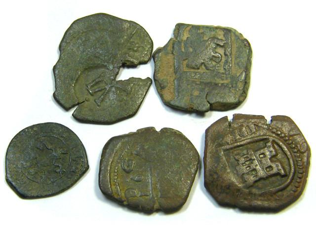 Parcel  Maravedis Cob 16-17thCent   Philip II, III, IV AC413