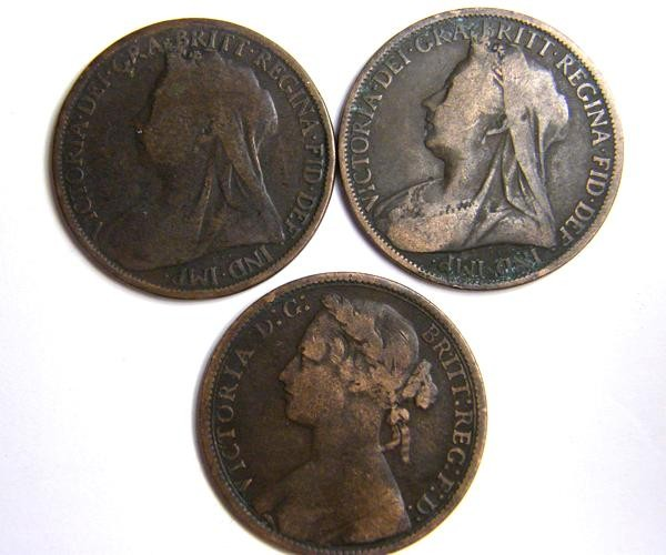 PARCEL THREE ONE PENNY COINS   OP 414
