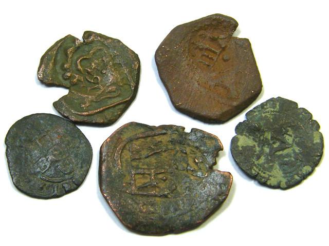 Parcel  Maravedis Cob 16-17thCent   Philip II, III, IV AC414